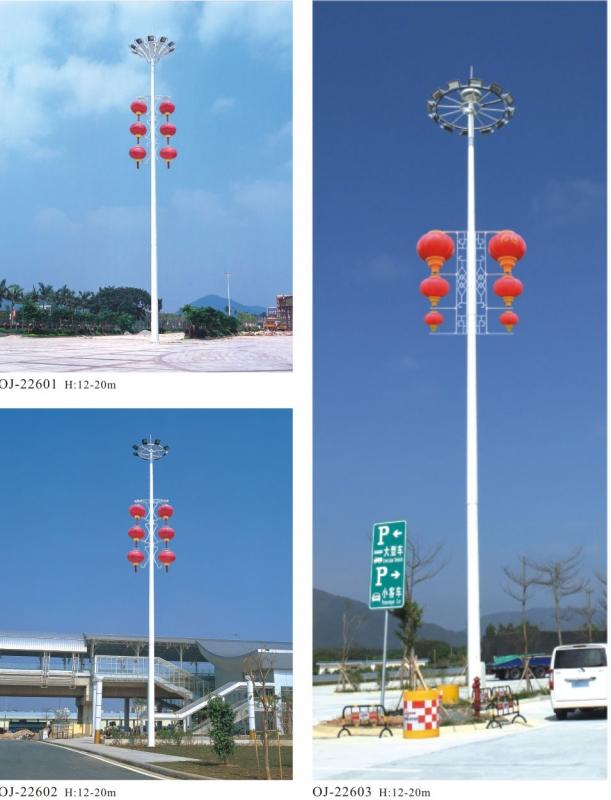 高杆灯提供明亮的视野