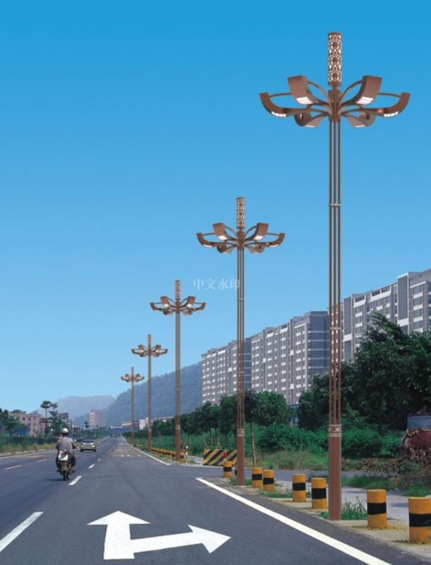 玉兰灯是城市景观中的一种